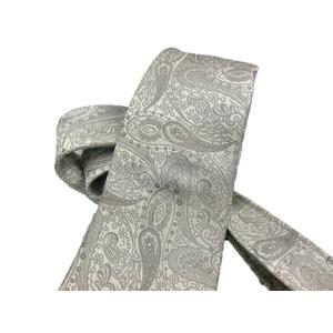 希少生地使用 グランネクタイ Clarkプレミアム 手縫い仕立て 西陣ネクタイ ラメ入りホワイト