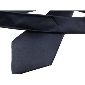 サテン生地使用 グランネクタイ Clarkプレミアム 手縫い仕立て 西陣ネクタイ ダークネイビー無地