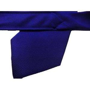 肉厚シルク生地使用 グランネクタイ Clarkプレミアム 手縫い仕立て 西陣ネクタイ ネイビー織柄