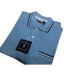 イタリア製半袖ポロ GREAT BAY スカイブルー Lサイズ