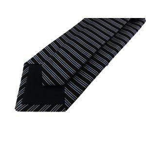 EARLY AMERICAN 手縫いネクタイ ネイビー ボーダー h03