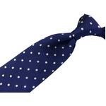 EARLY AMERICAN 手縫いネクタイ ブルー 水玉