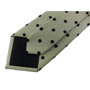 G FRERE 手縫いネクタイ グリーン 水玉 h03