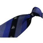 G FRERE 手縫いネクタイ クレスト ブルー