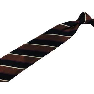 EARLY AMERICAN 手縫いネクタイ ストライプ ブラウン h02