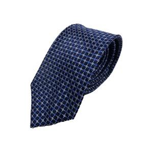 Gian Bellini milano イタリアファクトリーネクタイ ブルー×小柄
