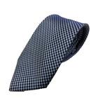 Gian Bellini milano イタリアファクトリーネクタイ ブルー×チェックの画像