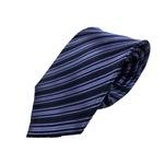 Gian Bellini milano イタリアファクトリーネクタイ ブルー×ストライプの画像