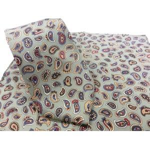 希少限定生地 シルクネクタイ&チーフセット Clarkプレミアム 手縫い仕立て 西陣ネクタイ ペイズリー