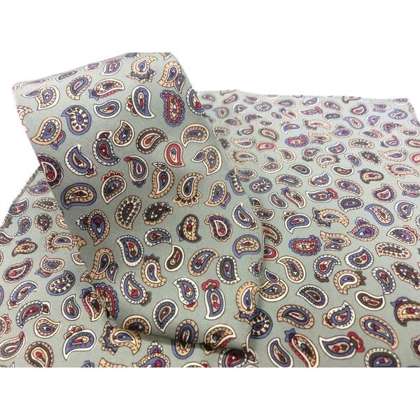 希少限定生地 シルクネクタイ&チーフセット Clarkプレミアム 手縫い仕立て 西陣ネクタイ ペイズリーf00