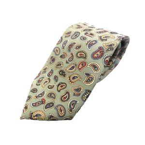 希少限定生地 シルクネクタイ&チーフセット Clarkプレミアム 手縫い仕立て 西陣ネクタイ ペイズリー h02