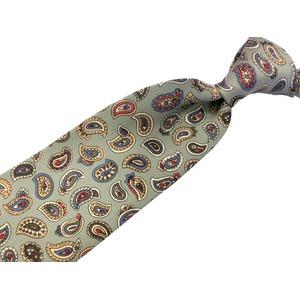 希少限定生地 シルクネクタイ&チーフセット Clarkプレミアム 手縫い仕立て 西陣ネクタイ ペイズリー h03