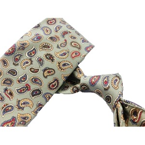 希少限定生地 シルクネクタイ&チーフセット Clarkプレミアム 手縫い仕立て 西陣ネクタイ ペイズリー f04