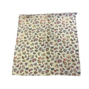 希少限定生地 シルクネクタイ&チーフセット Clarkプレミアム 手縫い仕立て 西陣ネクタイ ペイズリー f05