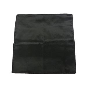 希少限定生地 シルクハンカチーフ サテン ブラック h02