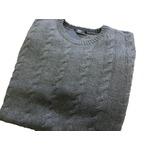 イタリア製 fibretex ケーブルセーター グレー L