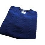 イタリア製 fibretex ケーブルセーター ブルー L