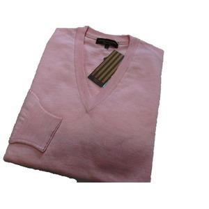 イタリア製 SIMONE DELLANNA EXTRA FINE MARINO WOOLVネックセーター ピンク L