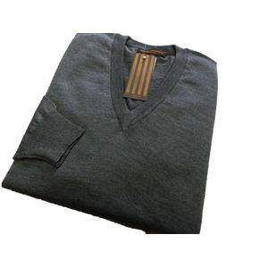 イタリア製 SIMONE DELLANNA EXTRA FINE MARINO WOOLVネックセーター グレー L