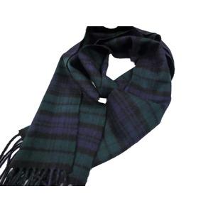 新作 英国製 Made in Scotland カシミヤ100%マフラー Black Watch