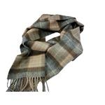 新作 英国製 Made in Scotland カシミヤ100%マフラー Natural Mackellarの画像