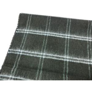 新作 英国製 Made in Scotland カシミヤ100%マフラー Double Windowpane
