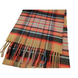 新作 英国製 Made in Scotland カシミヤ100%マフラー Large tartan2