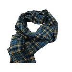 新作 英国製 Made in Scotland カシミヤ100%ストール Playful tartan checkの画像