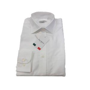 イタリア製コットンドレスシャツ ホワイトオックス L