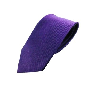 日本製シルク100%ネクタイ パープル 無地 織り