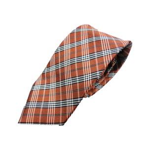 新春モデル 日本製シルク100%ネクタイ ダークオレンジ