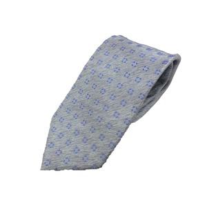 新春モデル 日本製シルク100%ネクタイ シルバーグレー小紋