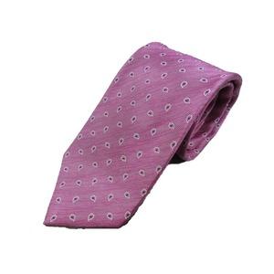 掘り出し物 新春モデル 日本製シルク100%ネクタイ ピンク×ペイズリー