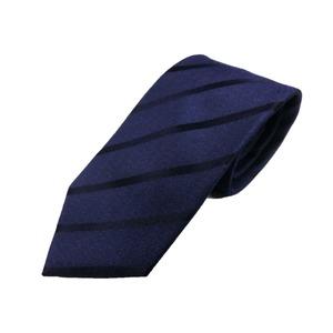 日本製シルク100%ネクタイ ネイビーストライプ