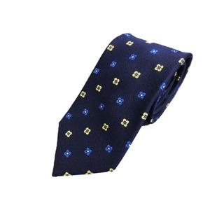 日本製シルク100%ネクタイ 織り×小紋