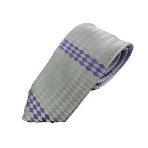日本製シルク100%ネクタイ シルバー
