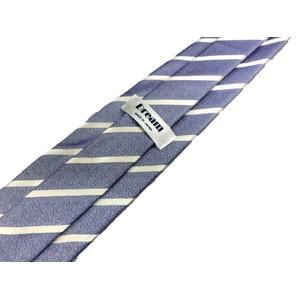 ネクタイ ストライプシリーズ 日本製シルク100% アイスブルー