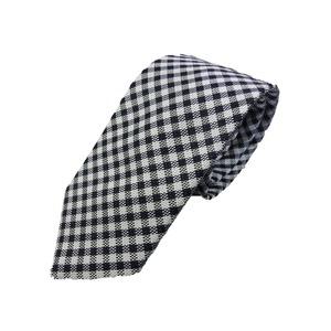 春夏シリーズ 日本製シルク100%ネクタイ ネイビー×チェック