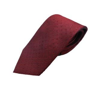 新春小柄ボルドー  日本製シルク100% ネクタイ