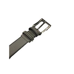 日本製レザーベルト  グレー 高品質バックルタイプ