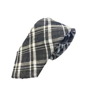 新作季節素材ネクタイ  日本製シルク100% チェック ブラック