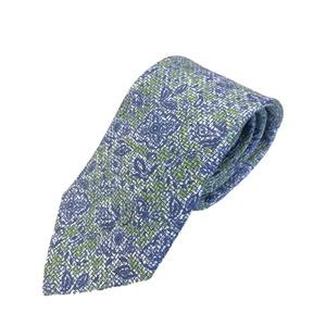 新作季節素材ネクタイ  日本製シルク100% イラスト ブルー