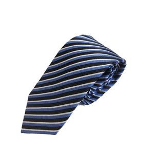イタリア製 GianBelliniファクトリーシルクネクタイ ブルー×ストライプ