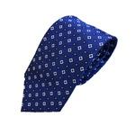 新作ネクタイ  日本製シルク100% ロイヤルブルー 小紋 の画像