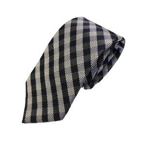 ネクタイ 人気チェックシリーズ 日本製シルク100% ブラック チェック
