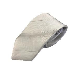 ネクタイ 礼装対応シリーズ 日本製シルク100% ホワイトストライプ