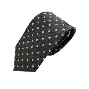ネクタイ 水玉シリーズ 日本製シルク100% チャコールグレー