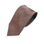 ネクタイ 小柄シリーズ 日本製シルク100% レッド