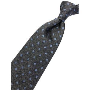 ネクタイ 水玉シリーズ 日本製シルク100% シルバーグレー×スカイブルー