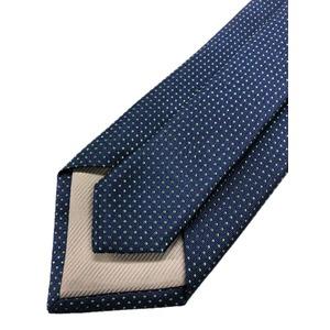ネクタイ 水玉シリーズ 日本製シルク100% ネイビー×グリーン